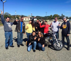 Motorcycle Riding Centers Class photo