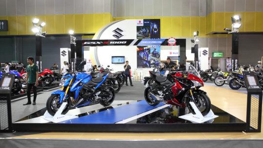BANGKOK - August 4: Showroom of Suzuki motorcycle at Big Motor sale on August 4 2015 in Bangkok Thailand.
